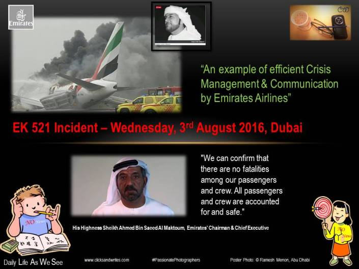3 August 2016 - Mind Speaks - EK521 Incident