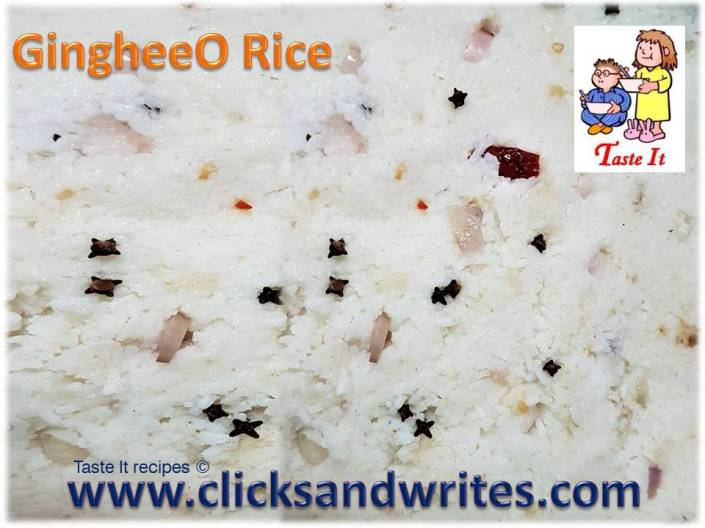 05 August 2017 - GingheeO rice